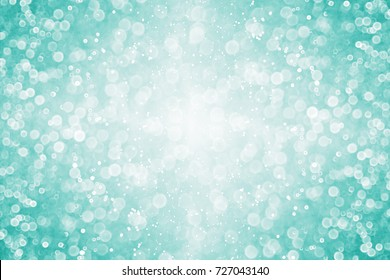 Abstract Modern Teal Green Glitter Sparkle Confetti Background For Turquoise Happy Birthday Party Invite Aqua