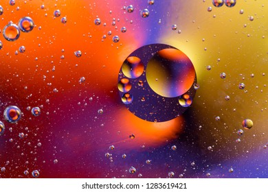 Abstract molecule structure. Water bubbles. Macro shot of air or molecule. Abstract background. Space or planets abstract background. Nice colorful gradient background