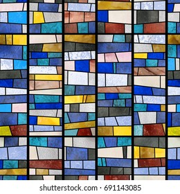Abstract mosaic (glass).High-resolution seamless texture