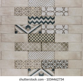 abstract mosaic pattern, marble wall tile