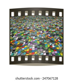 Abstract mosaic urban background