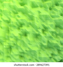 abstract mosaic wallpaper GREEN 3D displacement