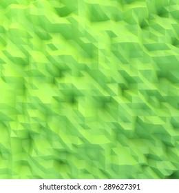 abstract mosaic wallpaper GREEN 3D displacement