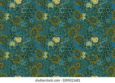 Abstract motif background. Ultrafashionable fabric pattern. Raster illustration.