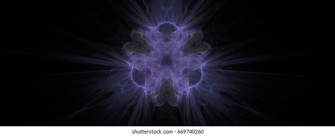 Abstract motion background art in illustration space geometry. Background consists of fractal multicolor texture and is suitable for use in projects on imagination, creativity and design.