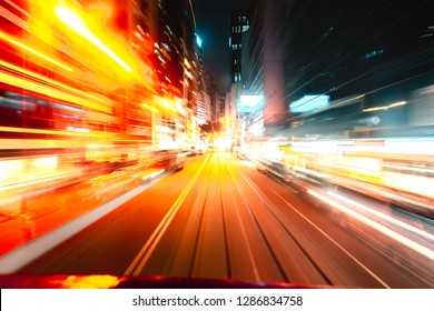 Abstract motion blur in city