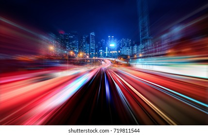 Abstract Motion Blur City - Shutterstock ID 719811544