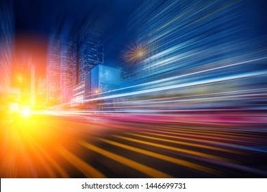 Abstract Motion Blur City for background