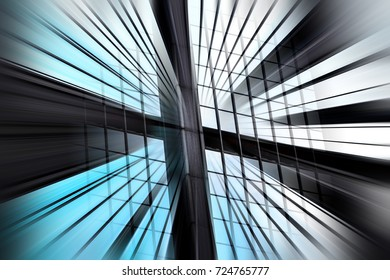 Abstract motion blur effect on modern architecture