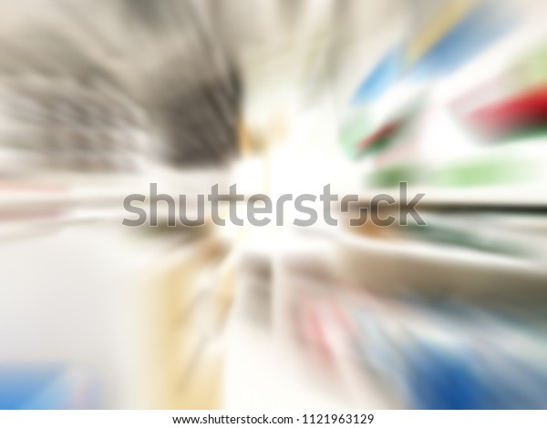 Abstract motion blur image of Special lens zoom Technique.for background usage