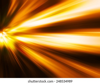 Abstract motion blur of night lights