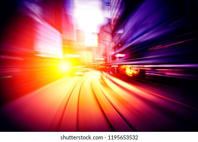 Abstract motion speed in city background