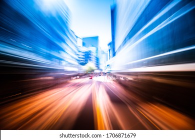 Abstract motion speed effect on Wellington City, New Zealand