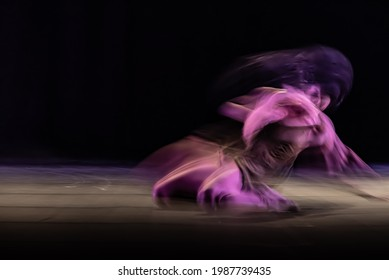 The abstract movement of the dance