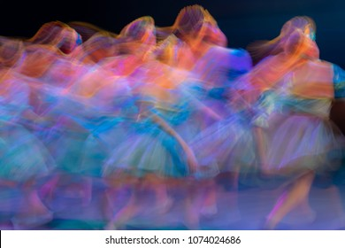 Abstract movement in the dance. Children ensemble. Moscow. Russia