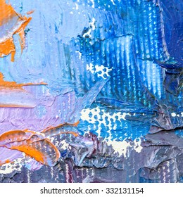 abstract multi color oil paint textures on canvas, paper