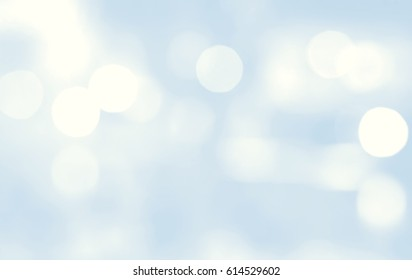 Abstract multicolor blurred bokeh light on light blue blackground