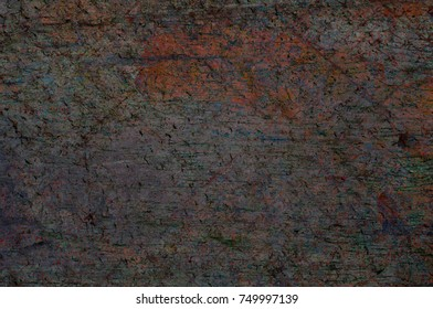 Abstract multicolor grunge background with abstract colored texture. Various color pattern elements. Old  vintage scratches, stain, paint splats, brush strokes, dots, spots. Weathered wall backdrop