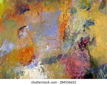 abstract multicolor layer artwork, opaque and transparent oil paint textures on canvas