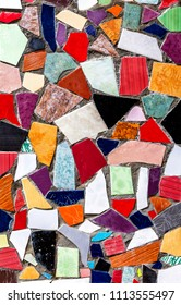 Abstract multicolored ceramic mosaic texture as background