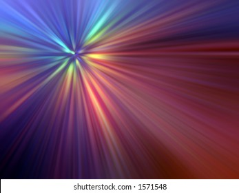 Abstract of Multicoloured Light Rays
