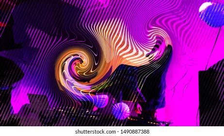 Abstract music background, party flyer