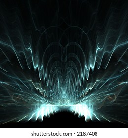 Abstract mystical wings