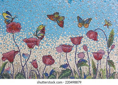 Mosaic Flower Images Stock Photos Amp Vectors Shutterstock