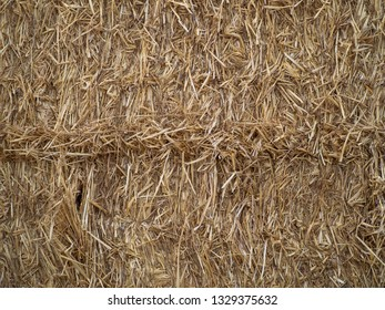 Abstract natural texture background of hay bale