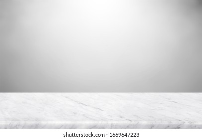 Abstract Natural texture marble floor on grey backdrop : Top view of marble table for graphic stand product, interior design or montage display your product. - Shutterstock ID 1669647223