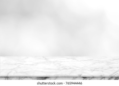 Abstract Natural texture marble floor on grey gradient background : Top view of marble table for graphic stand product, interior design or montage display your product.
