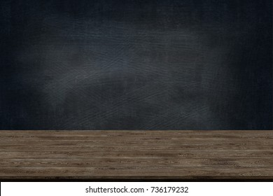 Abstract Natural wood table texture on Chalk rubbed out on background. for graphic add product,Education concept, is also used to create custom chalkboard art or creative arts.
