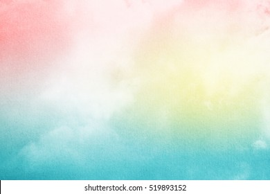 abstract nature background, cloud and sky with pastel gradient filter and grunge texture