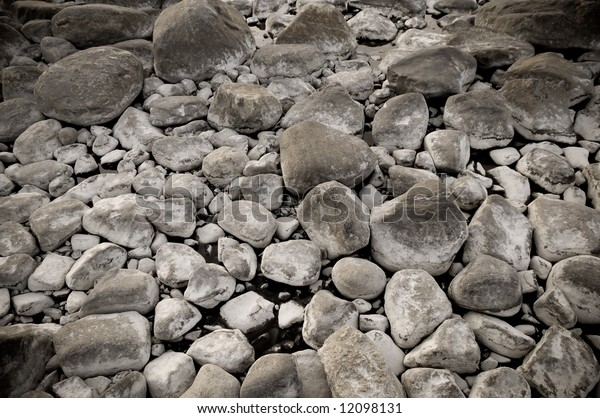 an abstract nature background of round stones