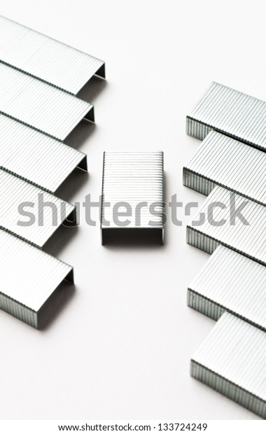 abstract needles isolated on white background