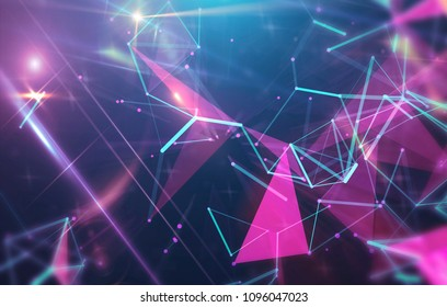 Abstract neon background. Explosion star. Motion background. illustration digital.
