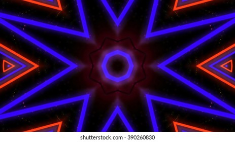 Abstract neon lights on space background