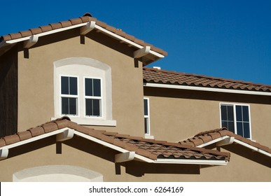 Abstract of New Stucco Wall Construction & Windows