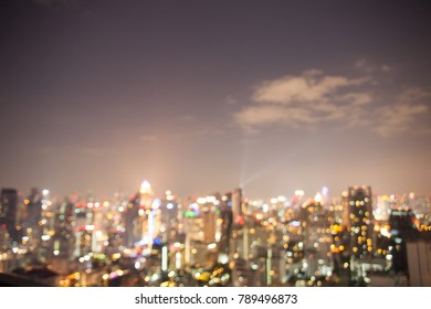abstract night cityscape view,bangkok thailand