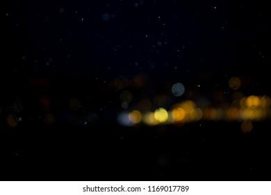 Abstract night landscape lights blur