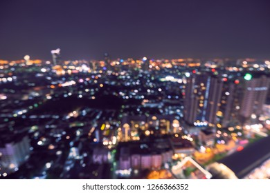 abstract night light bokeh of cityscape background