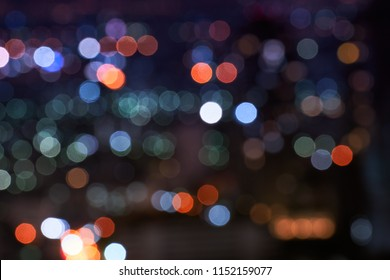 abstract night light cityscape bokeh background