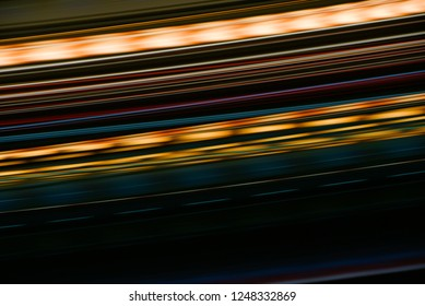 Abstract night light long exposure background