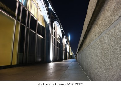 Abstract night public perspective structure view