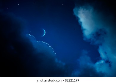 abstract night sky background