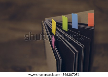 Abstract notebook with color
