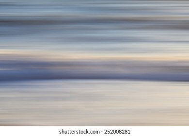 Abstract ocean seascape with blurred motion