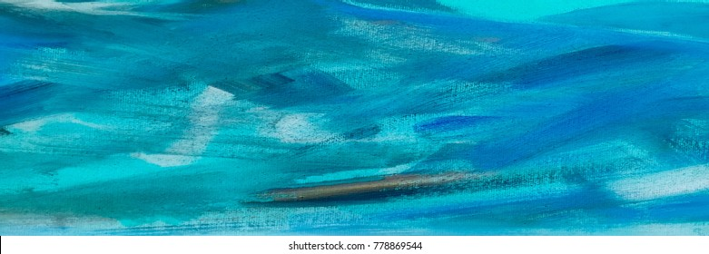 abstract oil blue paint texture on canvas, blue paint background