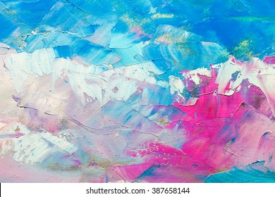 abstract oil paint texture on canvas, background - Shutterstock ID 387658144