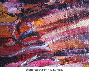 Abstract oil paint texture on canvas. . Oil texture, creative backdrop with artistic brush strokes. Illustration for your design.